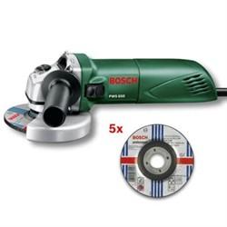 Угловая шлифмашина Bosch PWS 650 АКЦИЯ!!! + 5 отрезных дисков [0603411020]