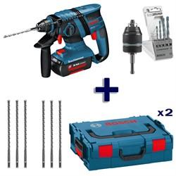 Аккумуляторный перфоратор Bosch GBH 36 V-LI + 2 кейса L-BOXX + оснастка [0611903R08]