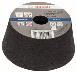 Bosch Чашечный шлифкруг, конусный, по металлу/литью 90 mm, 110 mm, 55 mm, 36 [1608600233]