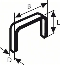 Bosch Плоская металлическая скоба, тип 51 10 x 1 x 14 mm [2609200203]