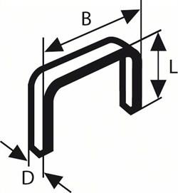 Bosch Тонкая металлическая скоба, тип 53 11,4 x 0,74 x 14 mm [2609200213]