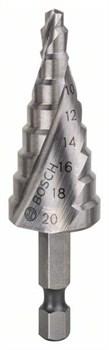 """Ступенчатое сверло Bosch HSS 4 - 20 mm, 1/4"""", 70,5 mm [2608597524]"""