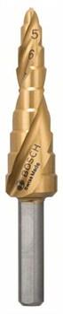 Ступенчатые свёрла Bosch HSS-TiN 4 - 12 mm, 6,0 mm, 66,5 mm [2608597525]