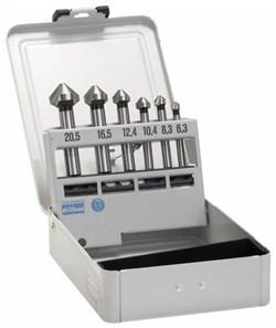 Bosch Набор из 6 конусных зенкеров 45; 63 mm / 5-10 mm / 6,3; 8,3; 10,4; 12,4; 16,5; 20,5 mm [2608597527]