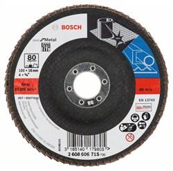 Bosch Лепестковый шлифкруг 100 мм, 16 мм, 80 [2608606715]