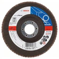 Bosch Лепестковый шлифкруг 125 мм, 22,23 мм, 80 [2608606718]