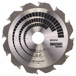 Пильный диск Bosch Construct Wood 180 x 30/20 x 2,6 mm, 12 [2608640632]