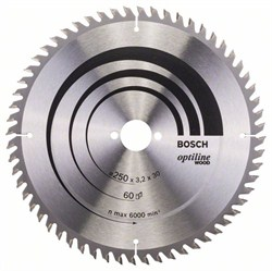 Пильный диск Bosch Optiline Wood 250 x 30 x 3,2 mm, 60 [2608640665]