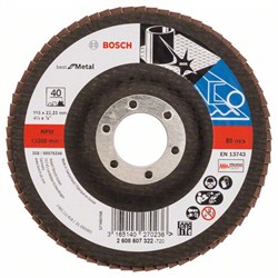 Bosch Лепестковый шлифкруг 115 мм, 22,23 мм, 40 [2608607322]