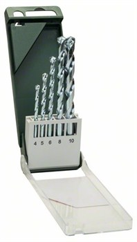 Bosch Набор из 5 свёрл по камню 4,0x75; 5,0x85; 6,0x100; 8,0x120; 10,0x120 [2609255460]
