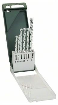 Bosch Набор из 6 свёрл по камню 5,0x85; 5,5x85; 6,0x100; 6,5x100; 7,0x100; 8,0x120 [2609255461]