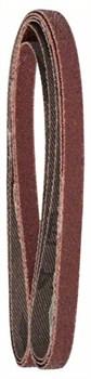 Набор из 3 шлифлент для электрического ленточного напильника Bosch Black & Decker, «красное» качество 60, без отверстий, на зажимах [2609256235]
