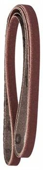 Набор из 3 шлифлент для электрического ленточного напильника Bosch Black & Decker, «красное» качество 120, без отверстий, на зажимах [2609256236]