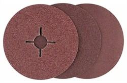 Bosch Набор из 12 фибровых шлифкругов для угловых шлифмашин, корунд  [2609256254]