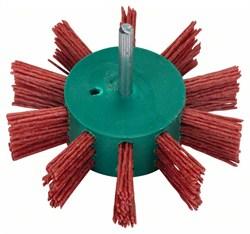 Веерообразная щётка для дрелей – нейлоновая проволока, корунд, зернистость Bosch K80, 100 мм 100 мм, 1 мм, 3500 об/мин [2609256543]