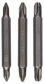 Набор из 3 двухсторонних насадок (Bosch PH, PH) PH1-PH1; PH2-PH2; PH3-PH3; 60 mm [2609255961]