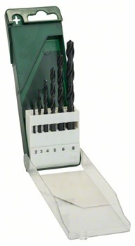 Набор из 6 свёрл по металлу Bosch HSS-R, DIN 338 2,0; 3,0; 4,0; 5,0; 6,0; 8,0 mm [2609255029]