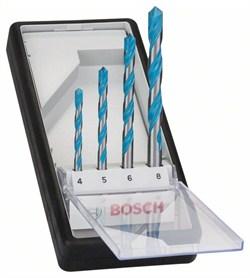 Набор Bosch Robust Line из 4 универсальных сверл CYL-9 Multi Construction 4; 5; 6; 8 mm [2607010521]