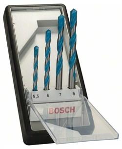 Набор Bosch Robust Line из 4 универсальных сверл CYL-9 Multi Construction 5,5; 6; 7; 8 mm [2607010522]