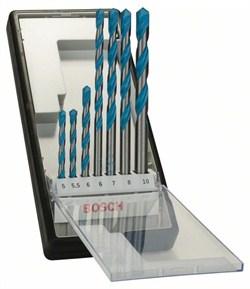 Набор Bosch Robust Line из 7 универсальных сверл CYL-9 Multi Construction 5; 5,5; 6; 6; 7; 8; 10 mm [2607010546]