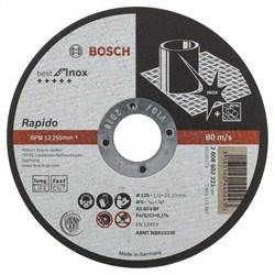 Отрезной круг, прямой, Bosch Best for Inox - Rapido Long Life A 60 W BF 41, 125 mm, 22,23 mm, 1,0 mm [2608602221]