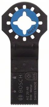 Погружное пильное полотно Bosch BIM AIZ 20 AB, Metal 20 x 20 mm [2608661640]