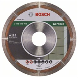 Алмазный отрезной круг Bosch Best for Ceramic Extraclean 115 x 22,23 x 1,2 x 5 mm [2608602368]