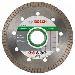 Алмазный отрезной круг Bosch Best for Ceramic Extra-Clean Turbo 115 x 22,23 x 1,4 x 7 mm [2608602478]