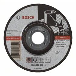 Обдирочный круг, выпуклый Bosch Expert for Inox AS 30 S INOX BF, 125 mm, 6,0 mm [2608602488]