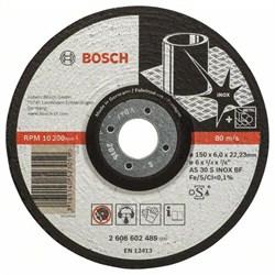 Обдирочный круг, выпуклый Bosch Expert for Inox AS 30 S INOX BF, 150 mm, 6,0 mm [2608602489]
