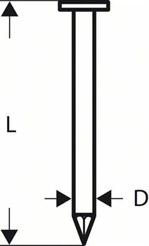 Гвоздь с круглой головкой Bosch SN21RK 60 2,8 мм, 60 мм, без покр., гладк. [2608200028]