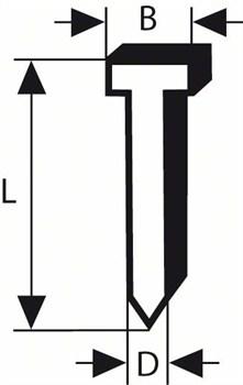 Штифт с потайной головкой Bosch SK50 45G 1,2 мм, 45 мм, оцинк. [2608200517]