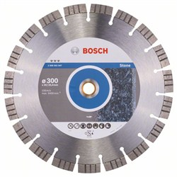 Алмазный отрезной круг Bosch Best for Stone 300 x 20,00+25,40 x 2,8 x 15 mm [2608602647]