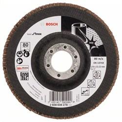 Лепестковый шлифкруг Bosch Best for Inox 125 мм, 22,23, 80 [2608608278]