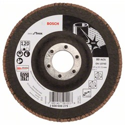 Лепестковый шлифкруг Bosch Best for Inox 125 мм, 22,23, 120 [2608608279]