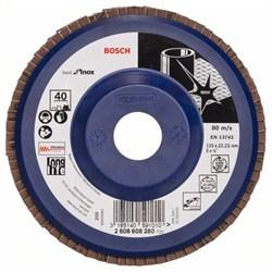 Лепестковый шлифкруг Bosch Best for Inox 125 мм, 22,23, 40 [2608608280]