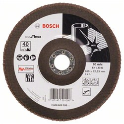 Лепестковый шлифкруг Bosch Best for Inox 180 мм, 22,23, 40 [2608608288]