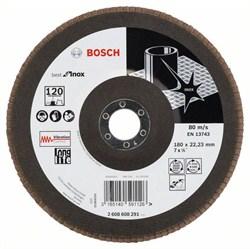 Лепестковый шлифкруг Bosch Best for Inox 180 мм, 22,23, 120 [2608608291]