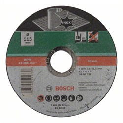 Отрезной круг, прямой, по нержавеющей стали Bosch WA 60 T BF [2609256321]