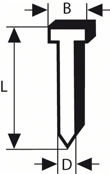 Штифт с потайной головкой 64-34 57 Bosch G 57 мм, оцинк. [2608200523]
