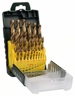 Набор из 25 сверл по металлу Bosch HSS-TiN [2607017154]