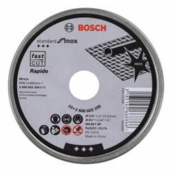 Отрезной круг, прямой, Bosch Standard for Inox - Rapido WA 60 T BF, 115 mm, 22,23 mm, 1,0 mm [2608603254]