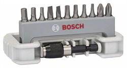 Набор бит для шуруповерта 11 шт., вкл. держатель для бит Bosch PH2; PZ2; T10; T15; T20; T25; S0,6x4,5; S0,8x5,5; HEX3; HEX4; HEX5; 25 mm [2608522131]