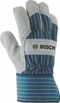 Защитные перчатки из воловьего спилка Bosch GL SL 10 EN 388 [2607990104]