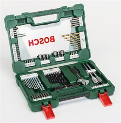 Набор Bosch TiN-сверл и насадок-бит V-Line со светодиодным фонариком и разводным гаечным ключом из 83 шт. [2607017193]