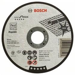 Отрезной круг, прямой, Bosch Best for Inox, Rapido A 60 W INOX BF, 125 mm, 0,8 mm [2608603488]
