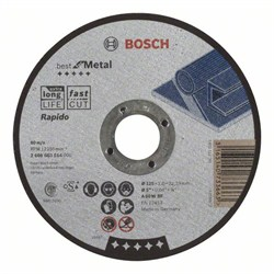 Отрезной круг, прямой, Bosch Best for Metal, Rapido A 60 W BF, 125 mm, 1,0 mm [2608603514]
