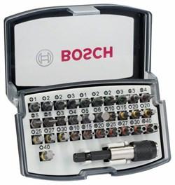 Набор из 32 бит Bosch PH1; PH2; PH2; PH3; PZ1; PZ2; PZ2; PZ3; HEX 3; HEX 4; HEX 5; HEX 6; T10; T15; T20; T20; T25; T27; T30; T40 [2607017319]