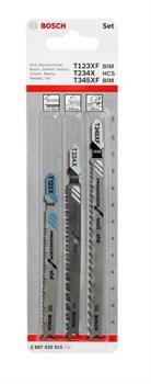 Bosch Набор из 3 пильных полотен T 308 B; T 308 BO 2607010592