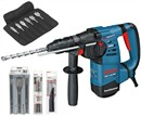 Bosch Перфоратор с патроном SDS-plus GBH 3-28 DFR АКЦИЯ!!! + набор сверл SDS-PLUS S4L 6-8-10, набор зубил 3 шт., набор сверл Self Cut 6 шт., набор сверл по металлу 5 шт. 061124a002